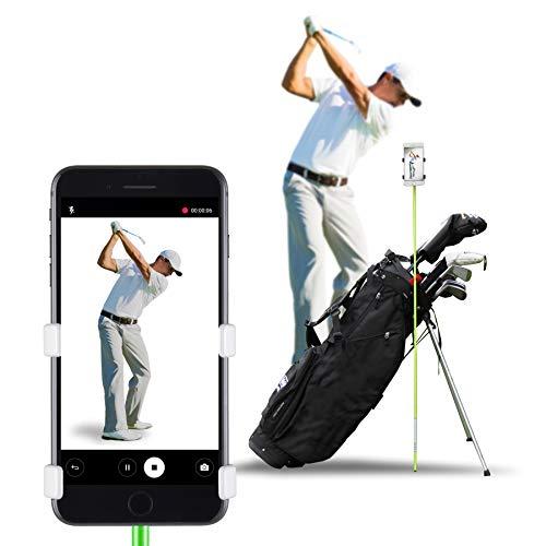 SelfieGOLF Record Golf Swing Cell Phone Clip Holder e Training Aid Accessori per Il Golf Vincitore del miglior Prodotto PGA, Quick Set Up (Bianco)