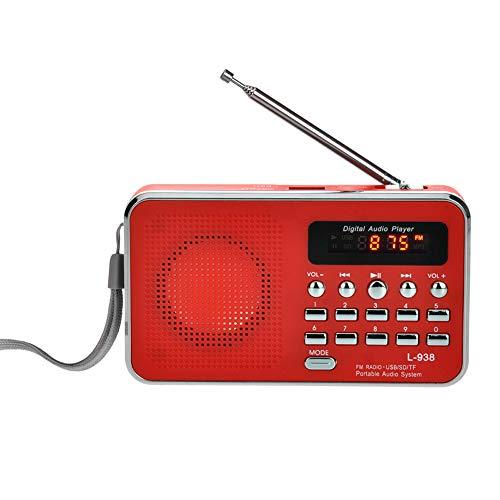Docooler L-938 Mini Radio FM Portátil Digital 3W Altavoz Estéreo Reproductor de Audio MP3 Calidad de Sonido de Alta Fidelidad w/Pantalla de 1,5 Pulgadas Soporte de Unidad USB TF SD Tarjeta