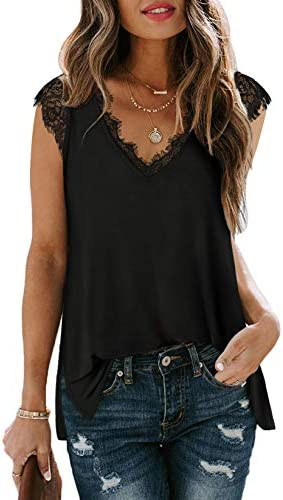 Summer Tank Tops for Women Loose Fit Casual Workout Tops Maternity Black M product image