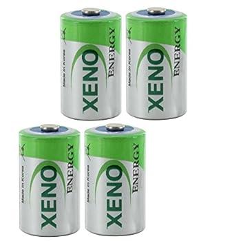 OmniCel ER14250 3.6V 1/2AA Lithium Standard Battery Button Top 4 pack