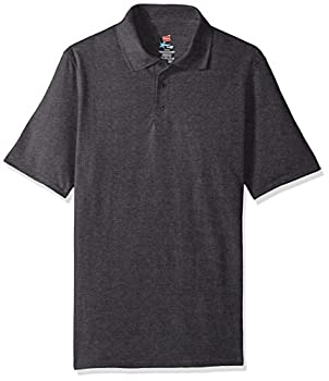 Hanes Men s Short Sleeve X-Temp W/ FreshIQ Polo Charcoal Heather XX-Large