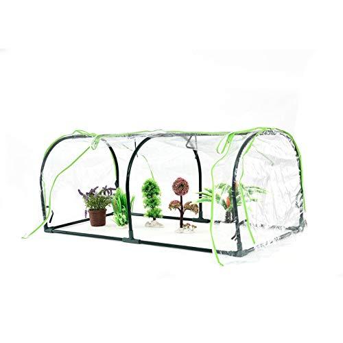 Grow Tunnel Greenhouse,Garden Polytunnel,Mini Portable Compact Garden Growhouse Cubierta De PVC Con Doble Cremallera,Cubierta Exterior Cloche De Frutas Y Verduras Resistente A Los Rayos UV,120x60x50cm