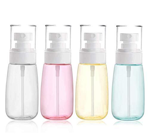 Lot de 4 vaporisateurs de brumisation, arrosage et distribution vides en plastique pour voyage, nettoyage, jardinage, soin de la peau, protection