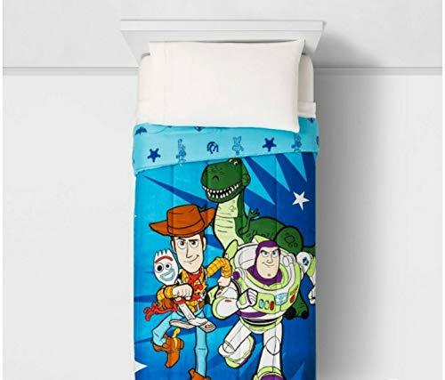 Toy Story Juego de ropa de cama con 4 fundas que brillan en la oscuridad (tamaño doble)