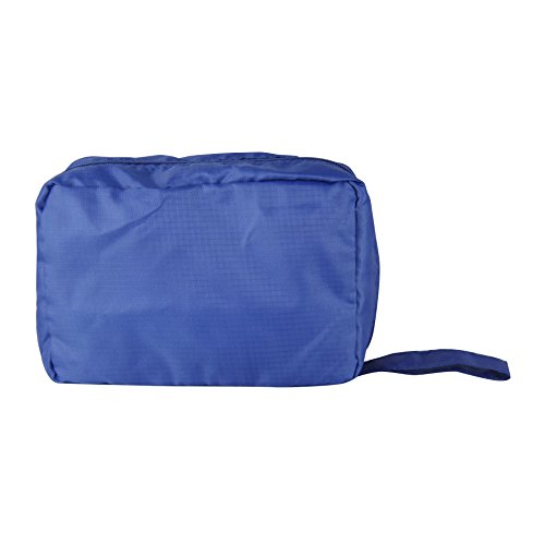 Rebecca SRL Trousse de Toilette Zip 2 Compartiments Bleu Plastique Cosmetique Piscine Gymnase Voyage (Cod. RE4743)