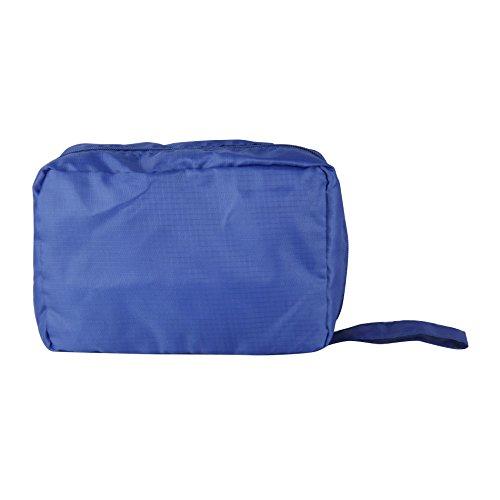 Rebecca SRL Beauty Case Astuccio 2 Scompartimenti Cerniera Blu Plastica Cosmetici Contenitori Viaggio (cod. RE4743)