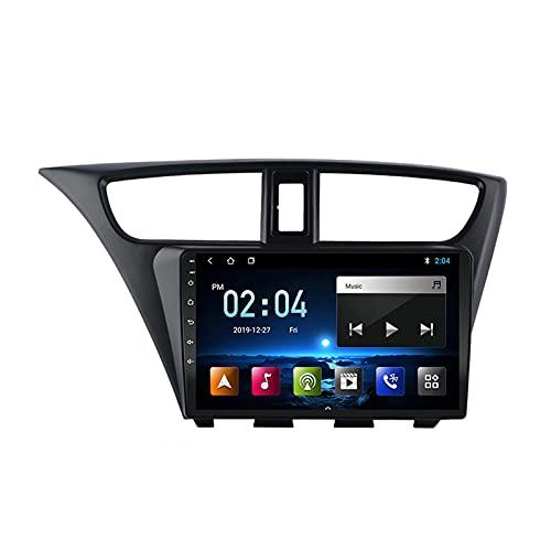 MGYQ 2 DIN Coche Bluetooth GPS Multimedia Car Stereo con Cámara De Visión Trasera Soporte Control del Volante Receptor FM 1080P Video AUX In, para Honda Civic LHD 2012-2017,Quad Core,WiFi 1+16