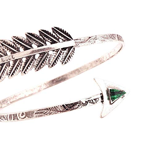 Amesii Armreif Armreif Armlet Schmuck Swirl Spirale Tribal Pfeil Oberarm Geschenk für Frauen