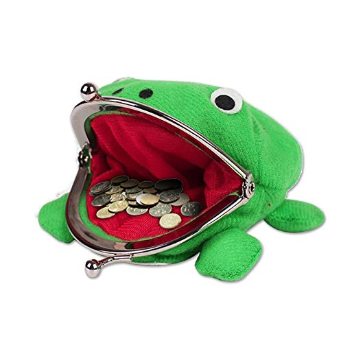 Grenouille Verte Sac Monnaie Cosplay Accessoires Peluche Porte-Monnaie Portefeuille pour Naruto Lovers and Cosplay