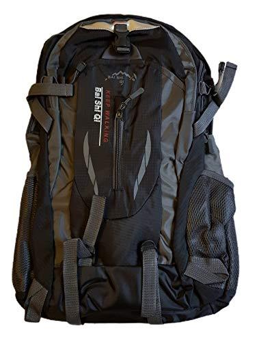 Provance 45L leichter Reiserucksack Wanderrucksack, Multifunktionale Tagesrucksack, Faltbare Camping Trekking Rucksäcke, Utra Leicht Outdoor Sport Rucksäcke Tasche (Schwarz)