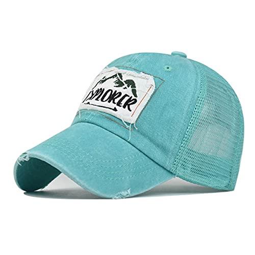 Sombrero de Malla de Camuflaje Azul Cielo para Hombres Mujeres Snapback Hip Hop Gorras de béisbol Summer Streetwear Gorra de Camionero Transpirable-Sky Blue Cap