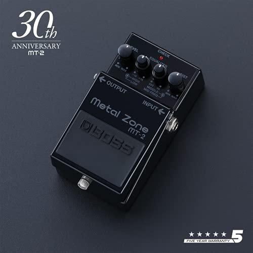 BOSS MT-2-3A – Edición limitada por el 30.º aniversario en negro – Pedal de efectos para guitarra y bajo Metal Zone. Legendario pedal de distorsión