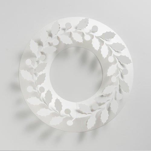 [伊藤千織] paper wreath ペーパーリース ひいらぎ Holly Sサイズ φ173mm