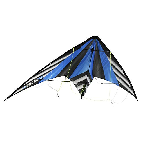 WindNSun EZ Sport 70 Ripstop Nylon Dual Control Blue Stripe Kite, 72387