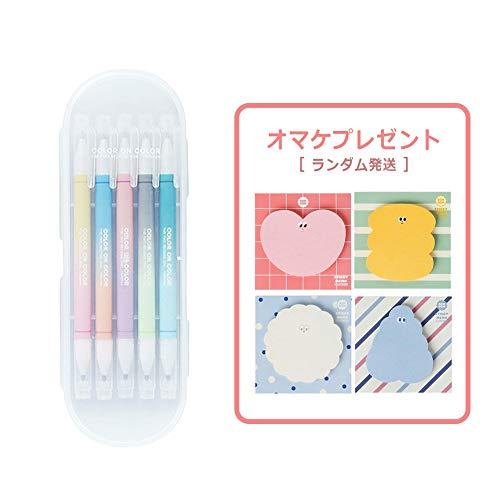 [LIVEWORK] Twin Deco pen 10COLOR ツインデコペン10カラー 2色ペン 2色蛍光マーカー 2色ツインマーカー デコペン デコレーション