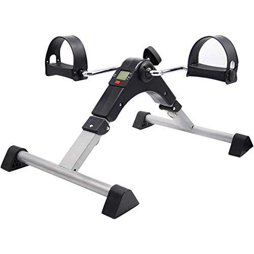 HYYK Mini Bicicleta de Ejercicios Plegable Pedales Ejercitador de Pedal de extremidades Superiores e Inferiores con Pantalla LED, Entrenador de piernas Interior para Entrenamiento de rehabilitaci