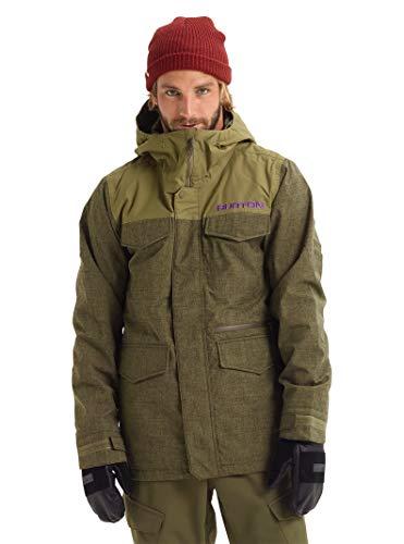 Burton Mens Covert Jacket Slim, Keef Heather/Martini Olive, Medium