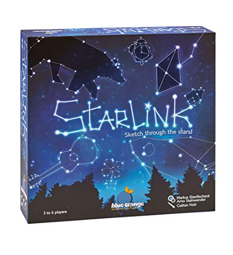 Blue Orange Games Starlink Party Game- New Party Drawing Game for 3 to 6 Players. Recommended for Ages 8 & up