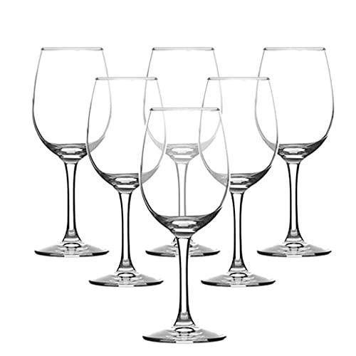 MQH Copas de Vino Copas de Vino soplado a Mano (Set de 6), Copas de Vidrio de Cristal Premium sin Plomo para la Mejor cata de vinos, Excelentes embalajes de Regalo Copas para Vino