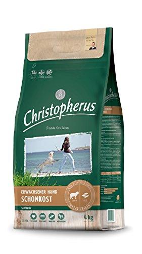 Christopherus Sensitive, Vollnahrung für den ausgewachsenen Hund mit normaler Aktivität, Trockenfutter, Lamm + Reis, Krokettengröße ca. 1 cm, Ausgewachsener Hund, 4 kg