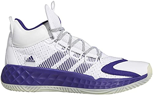 adidas Pro Boost Mid Shoe - Unisex Basketball White/Team Purple/Chalk White