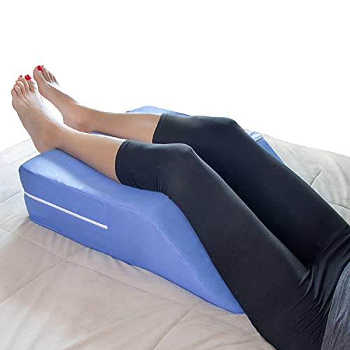 MABIS DMI Healthcare DMI Knee Pillow Wedge for Sciatica, Pregnancy, Back, Leg or Hip Pain made of Memory Foam with...