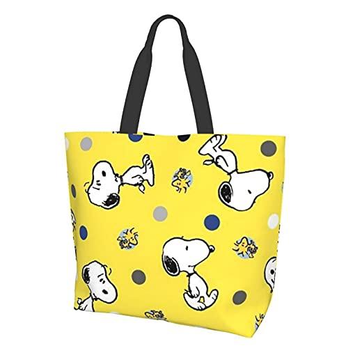 Snoopy Bolsa de comodidad con un solo hombro, casual y versátil, ideal para ir de compras, trabajo y escuela diariamente