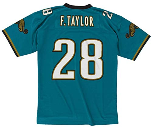 Mitchell & Ness Fred Taylor Jacksonville Jaguars Men's 1998 Legacy Throwback Jersey (Large)