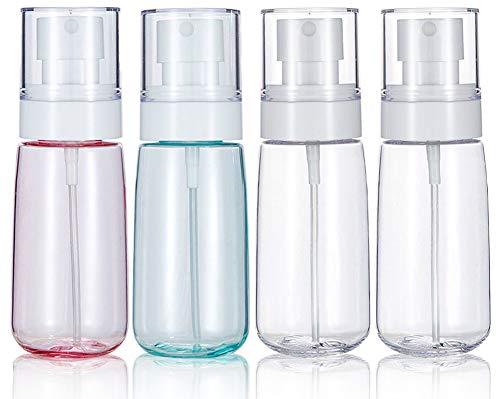 Dprofy ミストスプレーボトル60ml(4個)綺麗な透明瓶 トラベルボトル 小分けボトル プラスチック容器,霧吹き 極細ミスト 軽量 携帯便利 虫除け 旅行 クリーニング、植物、ミスト、スキンケア