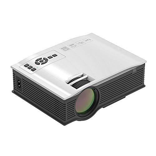 RSGK Proyector HD De 1080P para El Hogar, Compatible con Proyectores De Cine En Casa De 1080P Y 110', Corrección Trapezoidal De ± 15 °, Compatible con HDMI, VGA, TF, AV Y USB