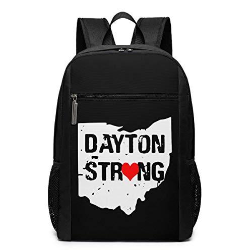 Dayton Starker 43,2 cm (17 Zoll) Laptop-Rucksack mit großem Fach, Reiserucksack für Teenager (schwarz)