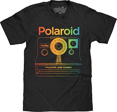 Polaroid Land Camera Black T-shirt for Men, S to 3XL
