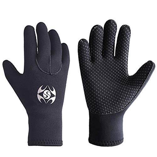 Neoprene Diving Gloves Wetsuit Five Finger Gloves 3mm Anti Slip Flexible Thermal for Diving Snorkeling Paddling Surfing Kayaking XL Size