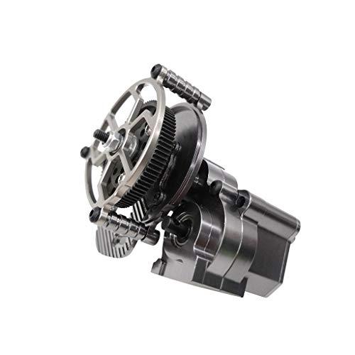 TwoCC Rc Zubehör, 1/10 Fernklettern Auto Getriebe Set Reverse Metallgetriebe Zentrale Metallgetriebe Teil für 1/10 Rc Crawler Axia Wraith (Grau)