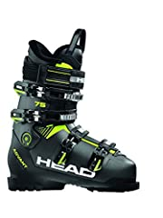 HEAD Hommes Advant Edge 75 Chaussures de ski, Anthracite/Black/Yellow, 275