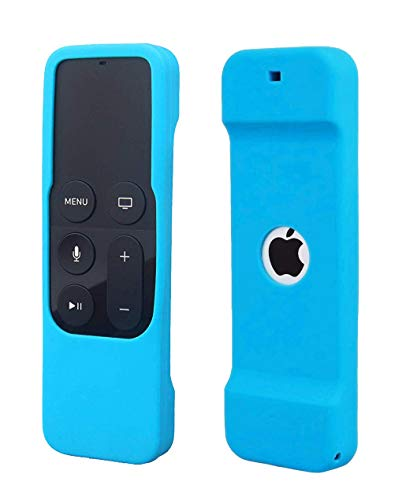 Remote Case Compatible with Apple TV 4K 4th 5th Generation, HJYuan Shock Proof Silicone Remote Cover Case Compatible with Apple TV 4th 5th Gen Siri Remote Controller - Blue
