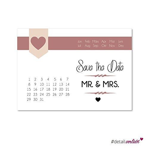 15 ansichtkaarten Save the Date I dv_153 I DIN A6 I set bruiloft wedding uitnodigingskaarten countdown