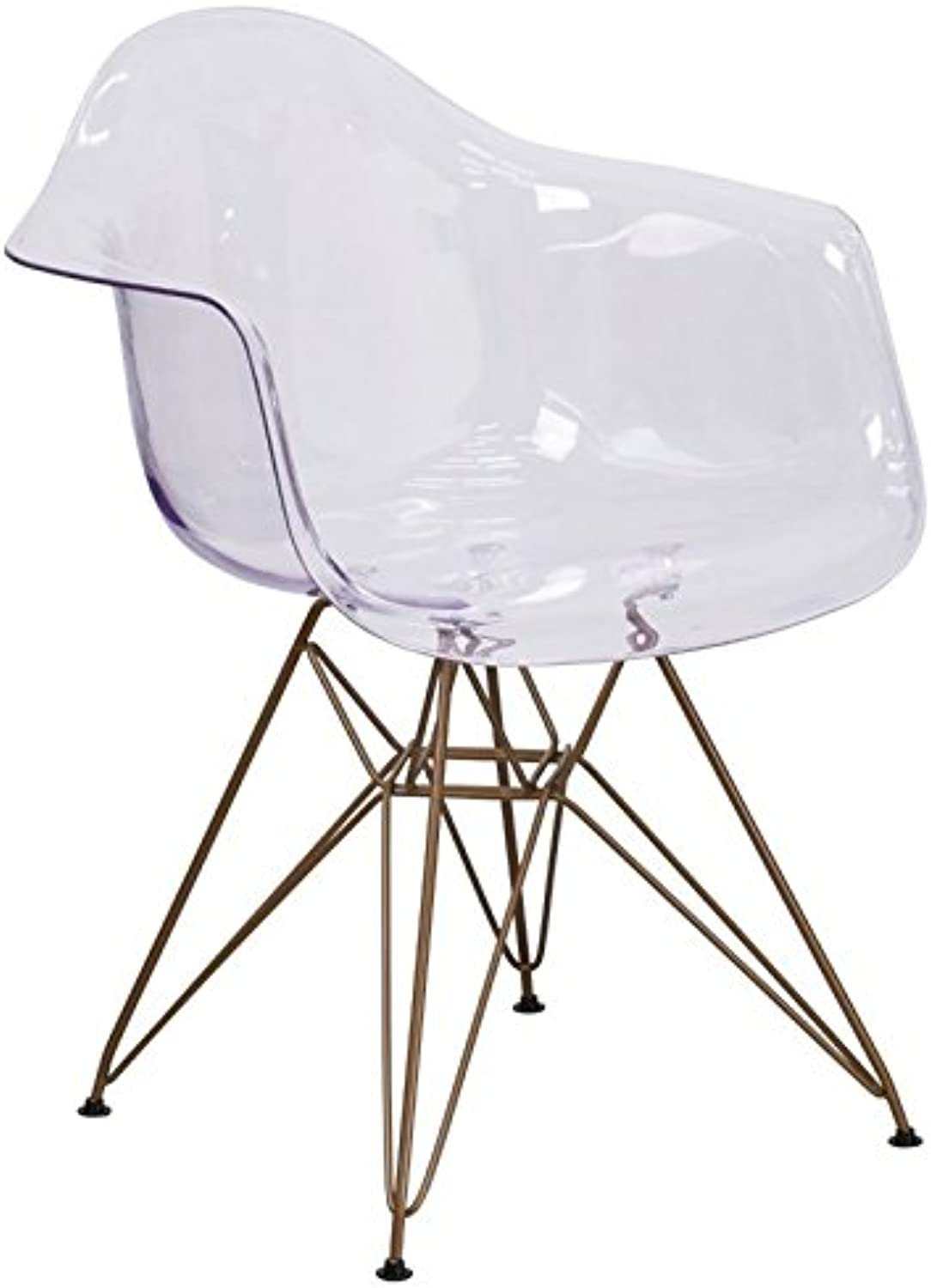 Pemberly Row Transparent Dining Chair