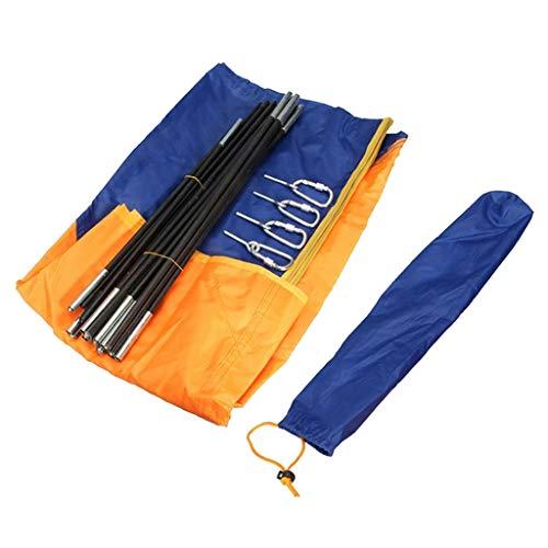 HomeDecTime Toldo Inflable para Kayak, Toldo Plegable Portátil para Tienda de Barco de Pesca - 4 Personas 145x351cm