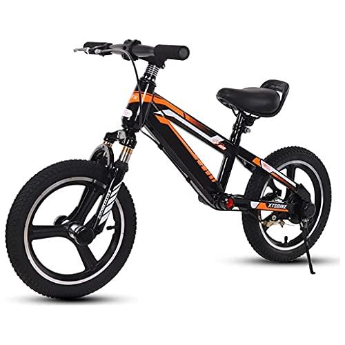 Bicicleta Sin Pedales Bicicleta de equilibrio para niños niños con freno y descanso de los pies, adulto niño grande 14 pulgadas / 16 pulgadas principiante sin pedalear bicicleta, soporte hasta 80kg