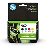 Original HP 962 Black, Cyan, Magenta, Yellow Ink Cartridges (4-pack) | Works with HP OfficeJet 9010 Series, HP OfficeJet Pro 9010, 9020 Series | Eligible for Instant Ink | 3YQ25AN
