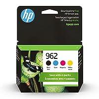 HP 962 | インクカートリッジ4個 | ブラック、シアン、マゼンタ、イエロー | 3HZ99AN、3HZ96AN、3HZ97AN、3HZ98AN