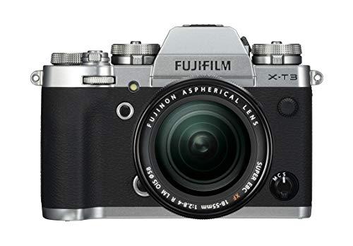 "Fujifilm X-T3 Fotocamera Mirrorless da 26 MP + XF18-55mm F2.8-4 R LM OIS, Sensore X-Trans CMOS 4 APS-C, Filmati 4K 60p 10bit, Mirino EVF 3.69 MP, Schermo LCD 3"" Touch Orientabile, Argento"
