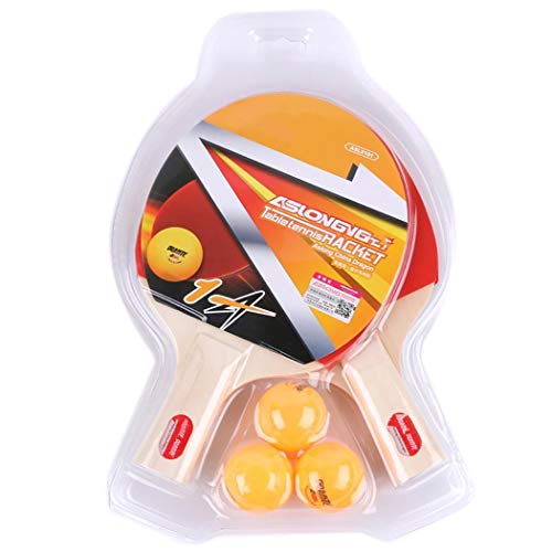 Best Deals! Dreamall Table Tennis Racket Ping Pong Paddle Set, 2 Paddles/Paddles +3 Ping Pong Balls ...