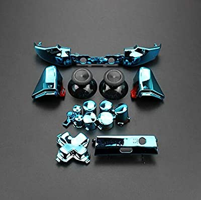 Replacement Full Set Button Bumper Trigger Buttons Guide Dpad RT LT RB LB ABXY ON Off Button Kit for Xbox One Slim Xbox One S Controller
