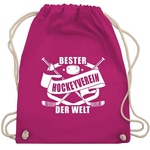 Shirtracer Eishockey - Bester Hockey Verein der Welt Banner - Unisize - Fuchsia - beutel eishockey - WM110 - Turnbeutel und Stoffbeutel aus Baumwolle