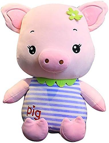 PANGDUDU Cartoon SchWeißKissen Kind Puppe Größe Puppe Schlafkissen Plüschtier Niedlich Puppenkind Geburtstagsgeschenk mädchen, Blauen Streifen, 80cm