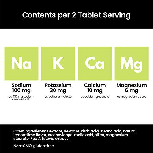 SaltStick FASTCHEWS 60-count Bottle of Chewable Electrolyte Replacement Tablets, Zesty Lemon Lime