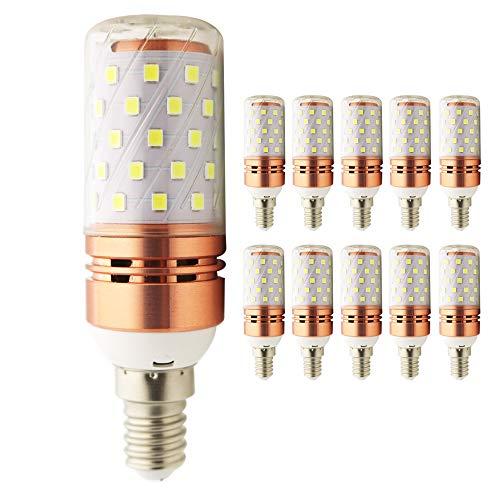 Lampadine a LED E14 a candela, 12 W, equivalenti a 100 W, 1000 lm, luce bianca fredda, 6000 K, 10 pz