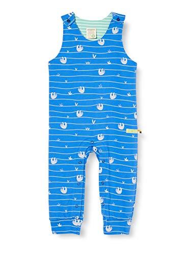 loud + proud Baby-Jungen Romper Allover Print Organic Cotton Strampler, Blau (Cobalt Cob), (Herstellergröße: 50/56)
